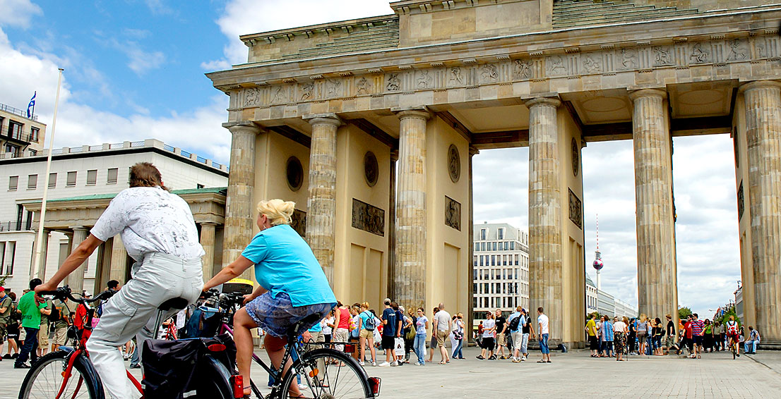 Fahrradtouren Berlin center, Brandenburger Tor
